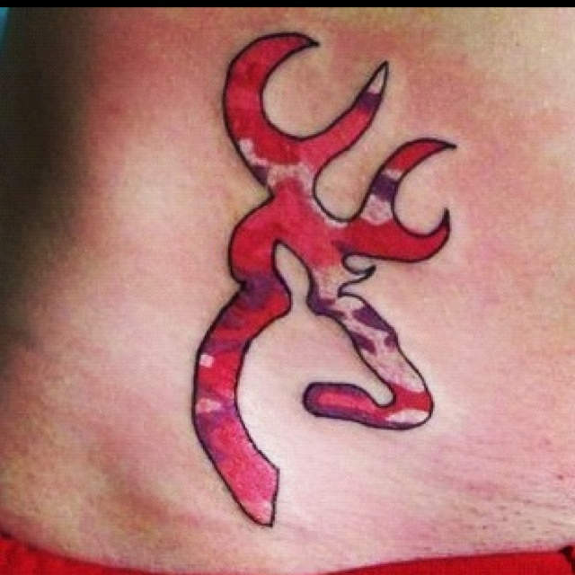 pink camo browning symbol tattoo tattoos pinterest