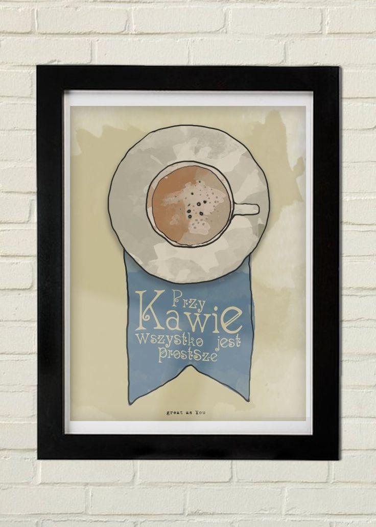 Kawa PLAKAT (sprzedawca: great as you), do kupienia w DecoBazaar.com
