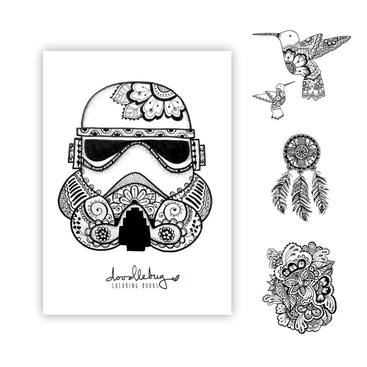 5x7 postcard prints by doodlebug coloring books