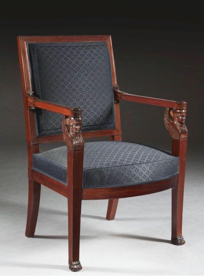 19th Century Antique Swedish Rococo Biedermeier Carved Dining Chairs