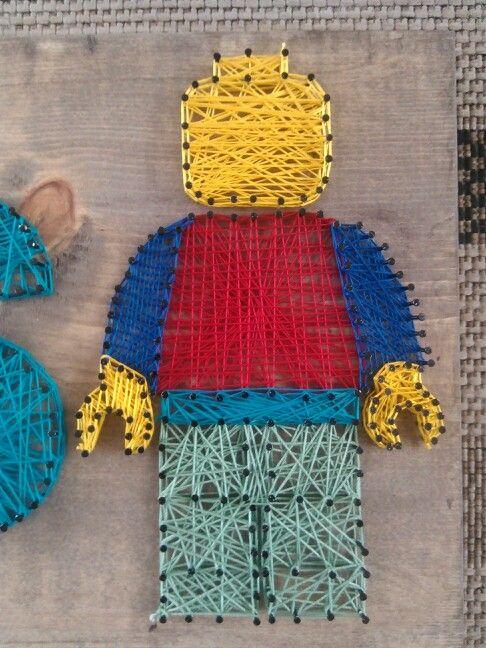 LEGO figure in string art