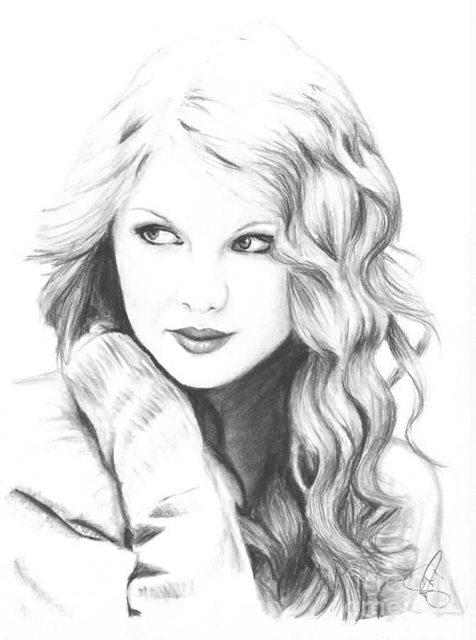 It is a picture of Challenger Taylor Swift Coloring Page