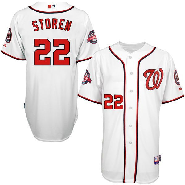 Drew Storen Washington Nationals Majestic 10-Year Anniversary Player Authentic Jersey - White - $131.99