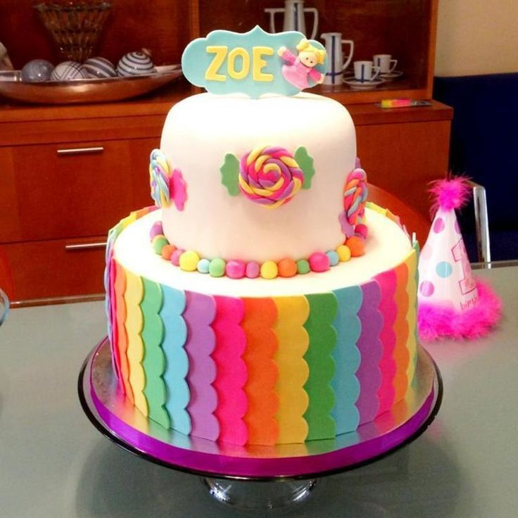 232 best Cakes Rainbow images on Pinterest Fondant rainbow