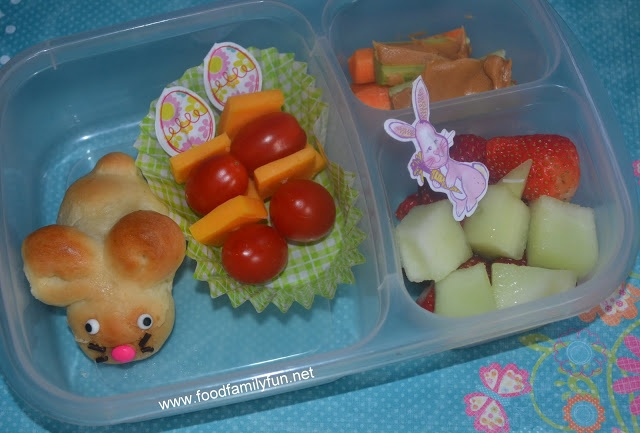Food, Family, Fun.: Bunny Bread for lunch!