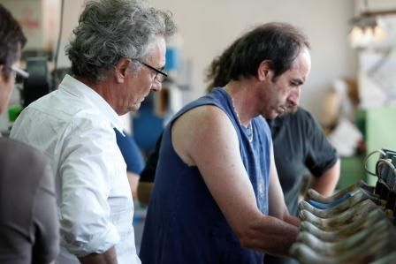 Jaime Serramalera, Founder & Designer at Vialis inside the shoemaking factory   Handmade shoes from Spain. #vialis