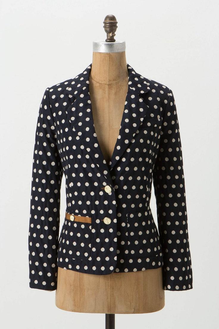 Jojo Blazer / Anthropologie {ohh so fun}Light Pink Blazers, Fashion, Jackets, Buttons, Anthropologie Com, Jojo Blazers, Coats, Caramel, Polka Dots Blazers