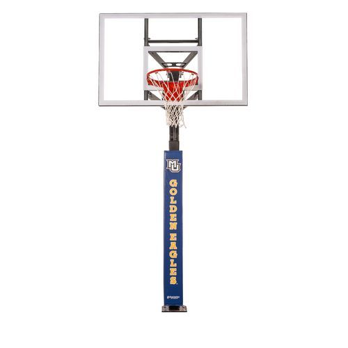 Goalsetter Marquette University Wraparound Basketball Pole Pad Blue - Basketball Accessories at Academy Sports