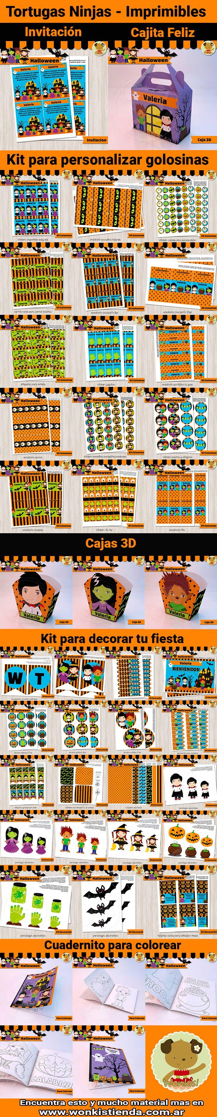 Las más tiernas y tenebrosas decoraciones para #Halloween que podrás usar en una fiesta de cumpleaños o de disfraces. Comienza a organizar la fiesta de tus sueños en la comodidad de tu casa o donde quiera que estés ● Te invito a conocer nuestros imprimibles: http://www.wonkistienda.com.ar/kits-imprimibles/halloween #imprimibles #kitsimprimibles #vampiro #dracula #bruja #hombrelobo #diseño #infantil #cumpleaños #fiesta