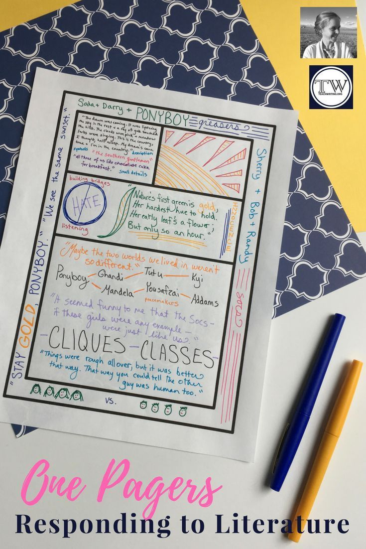 One Pagers As A Response To Literature Creative Writing Jobs