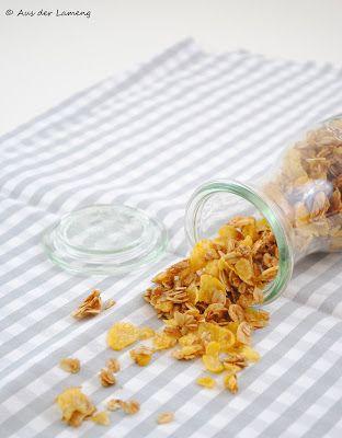 Mandel-Granola mit Cornflakes