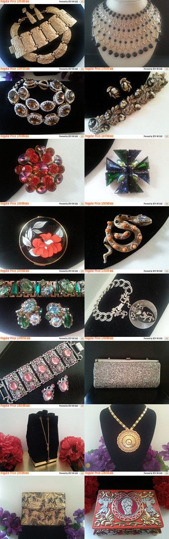 So Long Farewell...Vintage Jewelry, Compacts, Tins, Demi's ....MartiniMermaid.com  by MartiniMermaid on Etsy--Pinned+with+TreasuryPin.com