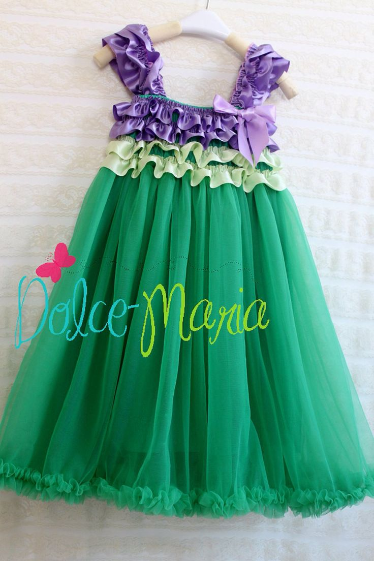 The Little Mermaid Ariel Princess Dress 3T to 7 by DolceMariaCo, $26.00