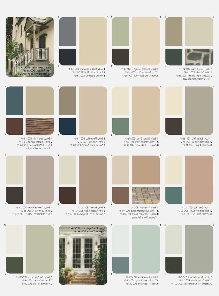 Outside House Paint Color Combinations