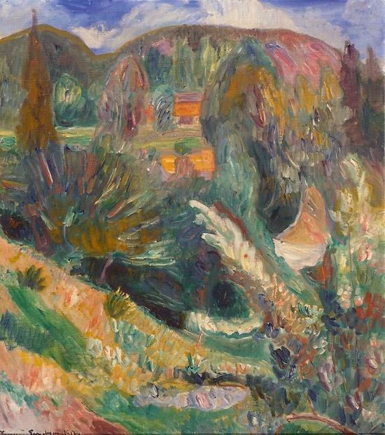 Thorvald Erichsen (1868-1939): Sommerlandskap 1917