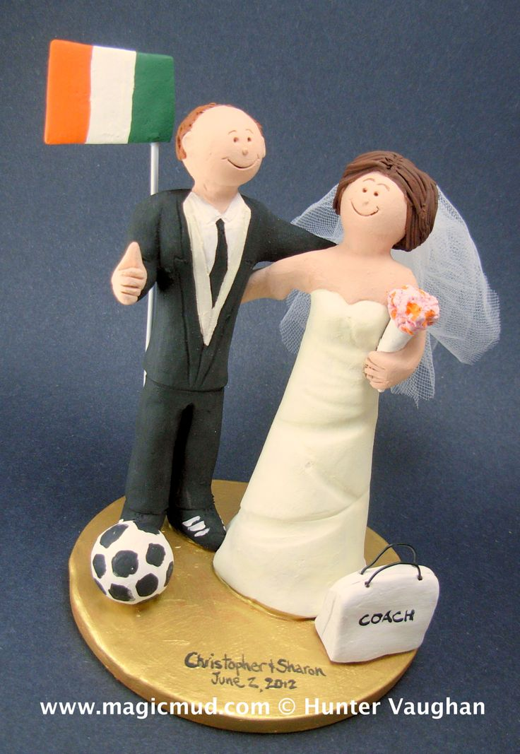 Irish Groom Wedding Cake Topper http://www.magicmud.com   1 800 231 9814  magicmud@magicmud.com  $235   https://twitter.com/caketoppers         https://www.facebook.com/PersonalizedWeddingCakeToppers   #wedding #cake #toppers #custom #personalized #Groom #bride #anniversary #birthday#weddingcaketoppers#cake-toppers#figurine#gift#wedding-cake-toppers  #ireland#irish#soccer#soccerPlayer#soccerBride#FIFA#football