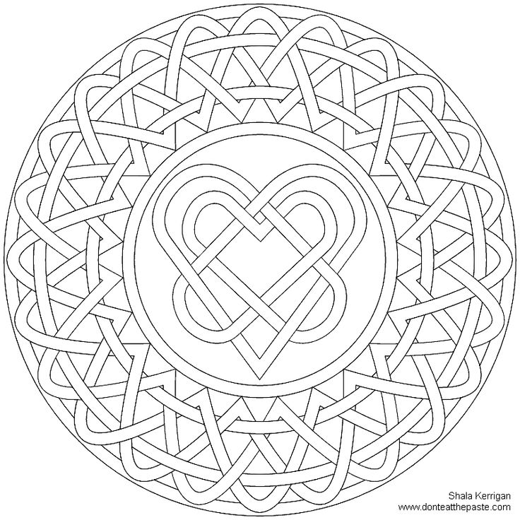 Celtic mosaic coloring pages ~ 229 best Coloring Pages images on Pinterest | Coloring ...