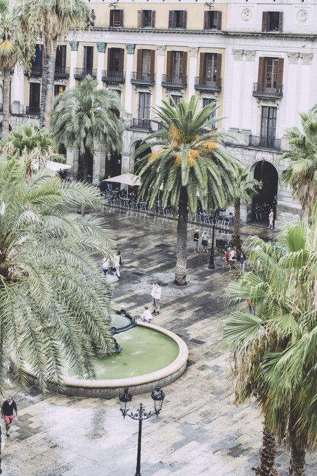 Plaça Reial, Barcelona. Spain
