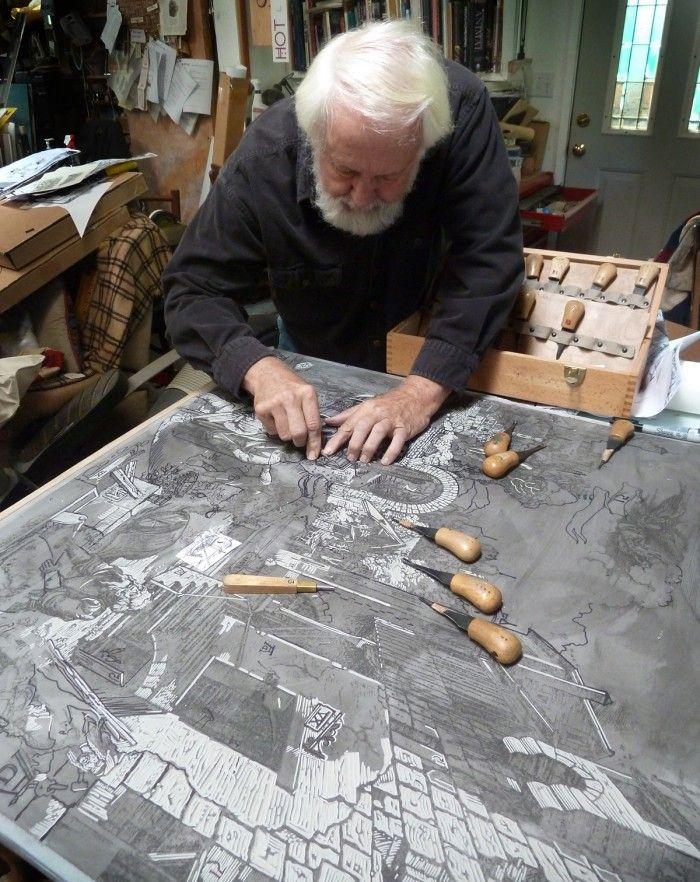 master woodcarver, beloved SFCB instructor, and Roadworks veteran artist Rik Olson