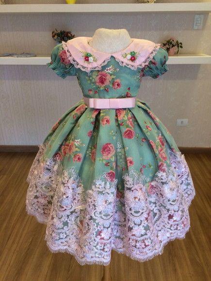 88878ed44d Compre Vestido do Tema Cha da Tarde - Infantil no Elo7 por R  429