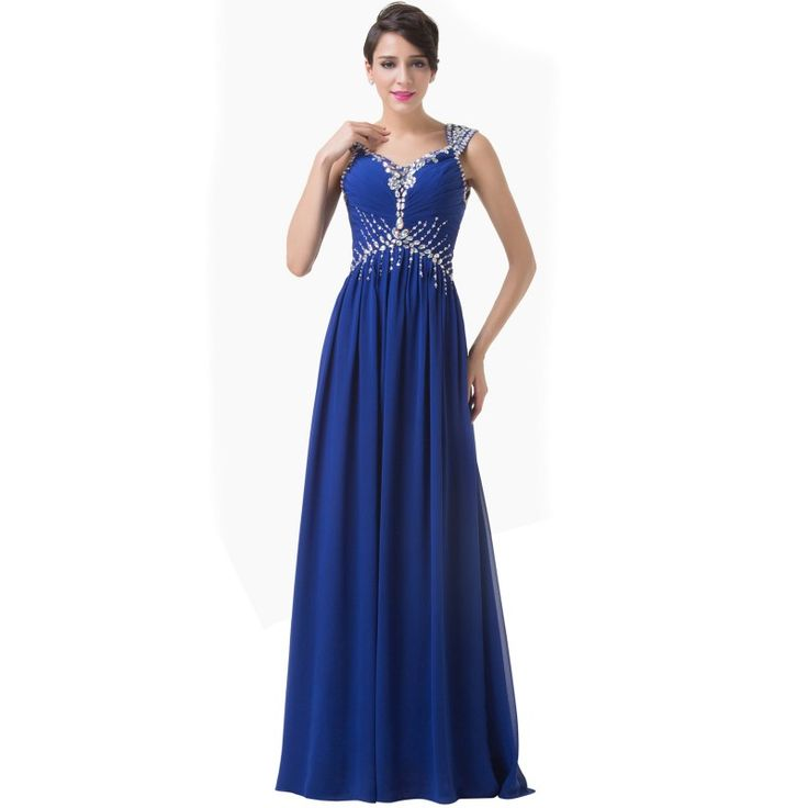 Tmavomodré spoločenské šaty CL6189