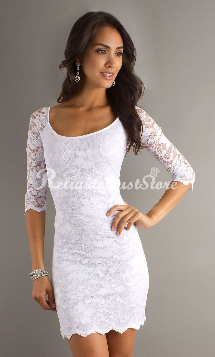Best 25  White lace cocktail dress ideas only on Pinterest ...