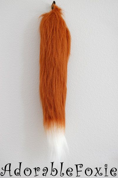 Faux Fur Rust Fox Tail  Cosplay / Furry / Costume by adorablefoxie, $20.00 (one for out one for at home that looks more realistic)