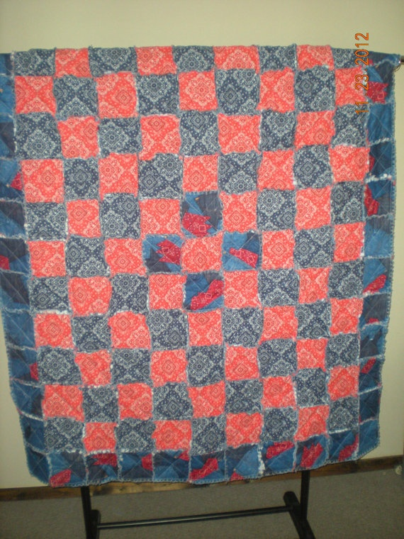 17 best American Flag Rag Quilt images on Pinterest Rag quilt, American flag and Sewing crafts