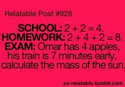 • LOL funny true true story school homework i can relate so true teen quotes r…