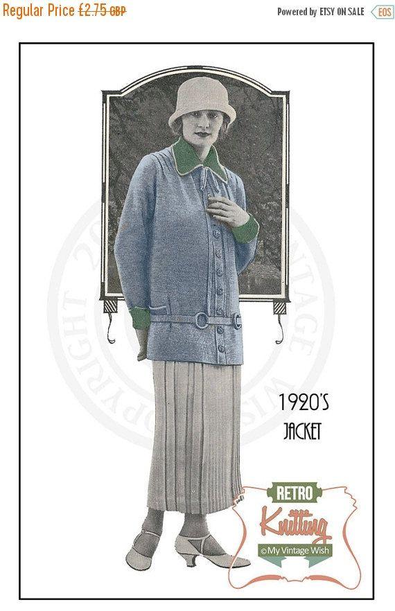 1920s Ladies Jacket Vintage Knitting Pattern - PDF Jitting ...