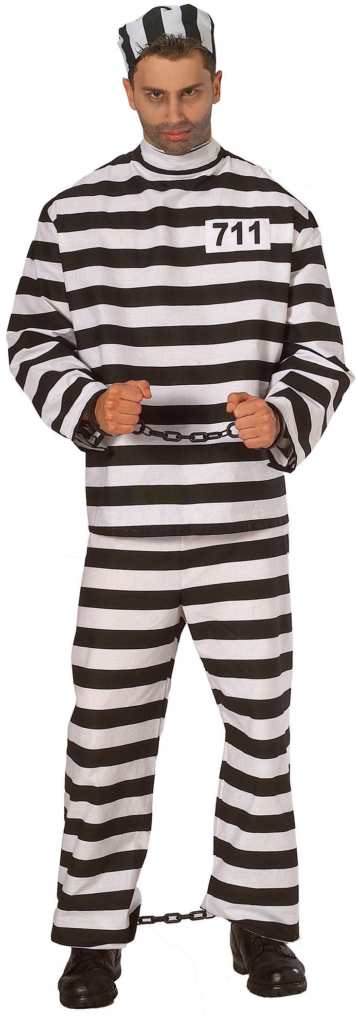 convict costume x large adult - College Halloween Costumes Male