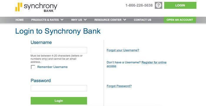 Synchrony Bank Login