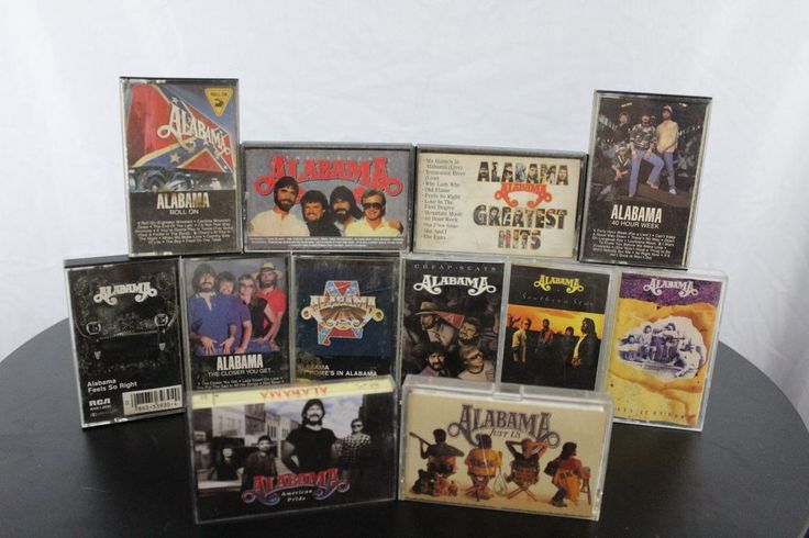 Lot of 12 Country Music Band Alabama Cassettes