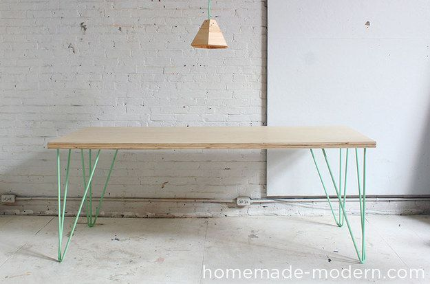 A Mid-Century Modern Table | 19 DIY Projects To Do Before The Holidays