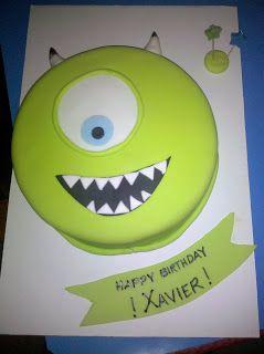 The Disney Cake Blog: Monsters Inc - Mike Cake