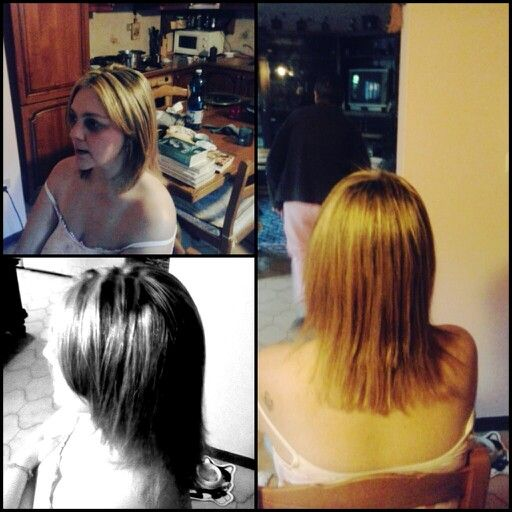 #mèches (#highlights) and #shatush. new hair for tiziana (my mom).