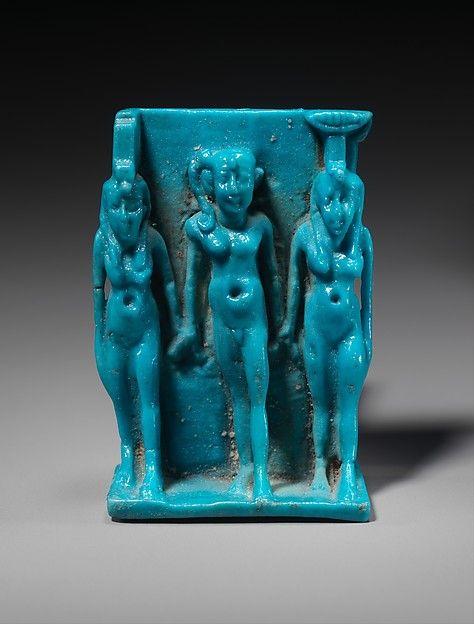 Amulet: Triad of Isis, Horus, Nephthys
