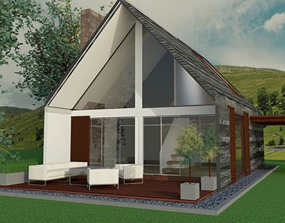 """Check out new work on my @Behance portfolio: """"Barn house"""" http://be.net/gallery/40138313/Barn-house"""