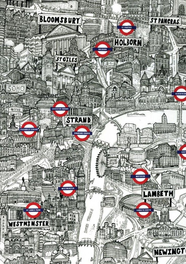 ♥️ Illustrated Tube Map