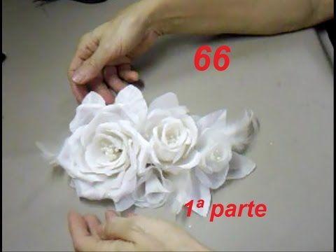 AULA 66: ARRANJO DE FLORES PARA CABELOS DE NOIVA (1ªparte)