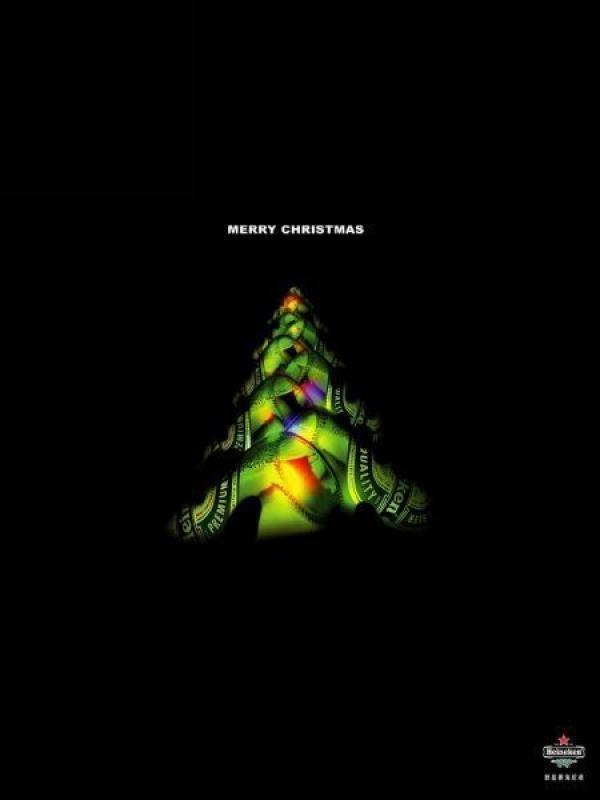 CHRISTMAS TREE, Heineken, Leo Burnett }-> repinned by www.BlickeDeeler.de