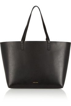 Mansur Gavriel Large leather tote. The it bag that I can't find anywhere. Want the black with blue interior. $485.