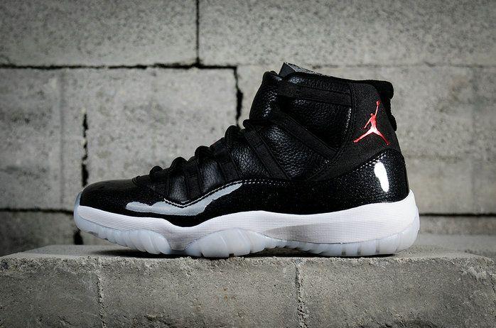 Factory Authentic Nike Air Jordan 11 Retro Space Jam Black White Red  378037-002 84a5c78b1
