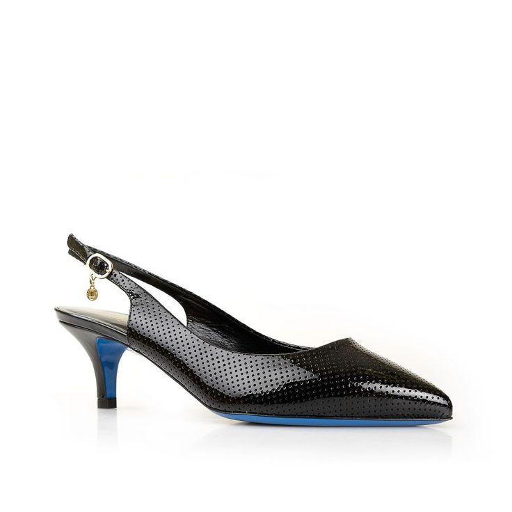 Черные туфли с открытой пяткой на небольшом каблуке от Loriblu, купить за 24 035 руб. в интернет магазине, фото, отзывы