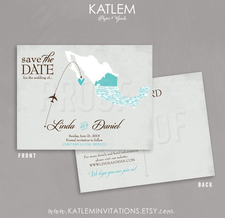 Mexico Save the Date, Destination Wedding Save the Date, El Arco Wedding Save the Dates, Map Save the Date by katleminvitations on Etsy https://www.etsy.com/listing/234898303/mexico-save-the-date-destination-wedding