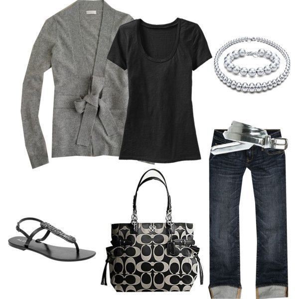 grey: Sweater, Fashion, Coach Bags, Favorite Colors, Coach Purses, Grey, Spring Outfit, Black, My Style