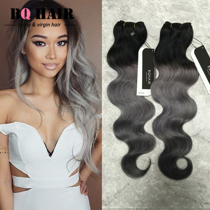 BQ HAIR Gray Ombre Hair Extensions 3 Bundles New 3 Pcs 8A Human Virgin Ombre Brazilian Hair Body Wave Grey Hair Weave-in Human Hair Extensions from Health & Beauty on Aliexpress.com | Alibaba Group