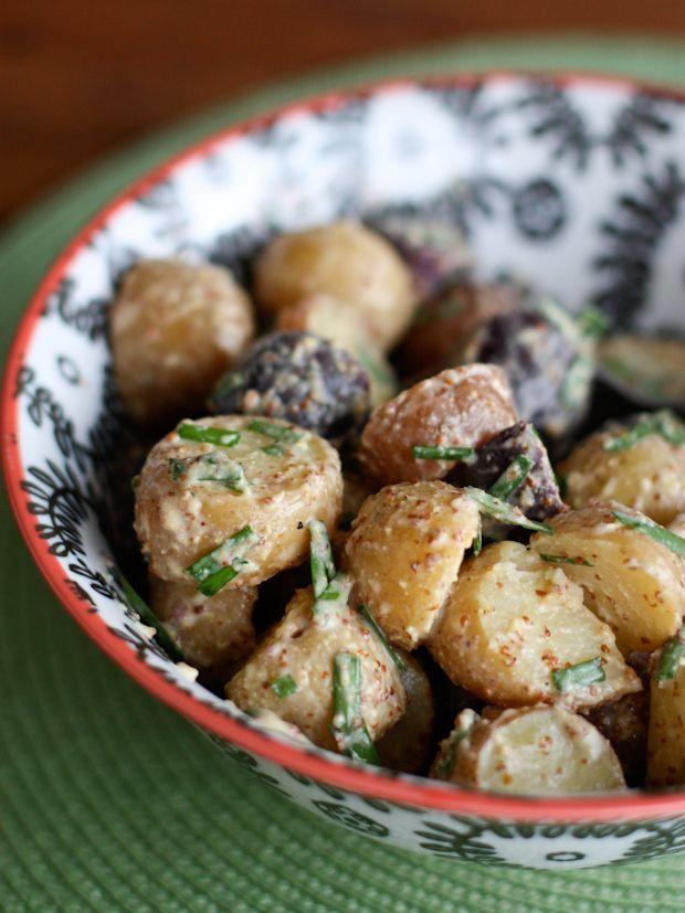Mustard and Chive Potato Salad - Aggies Kitchen