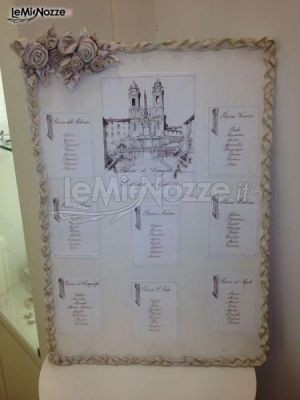 http://www.lemienozze.it/operatori-matrimonio/bomboniere/i-confetti-di-rosemarie/media/foto/22 Tableau de mariage elegante