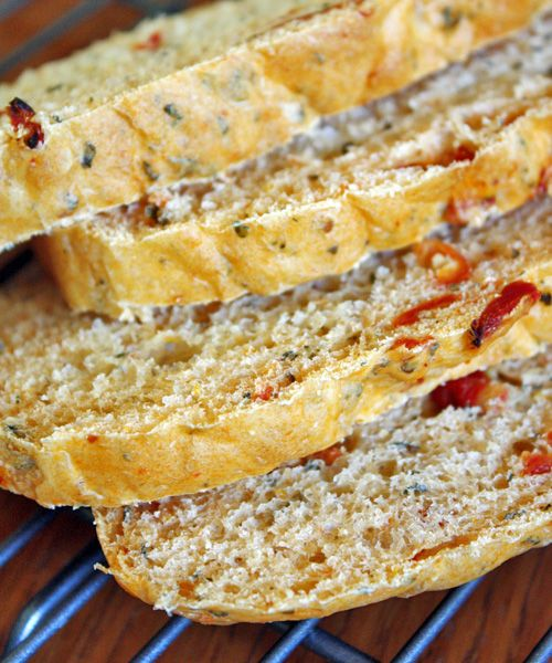 Sundried Tomato Basil Bread (try bread maker machine)
